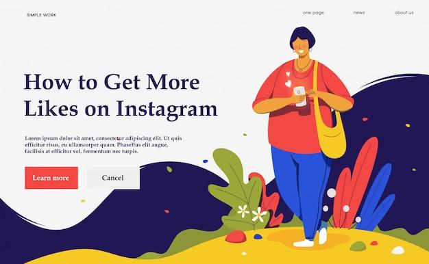 Come ottenere più mi piace. social media. vita di rete.