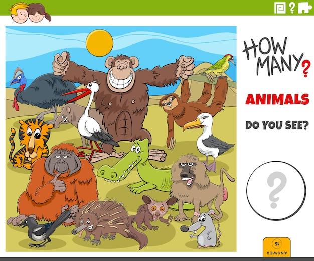 Quanti animali compito educativo per i bambini