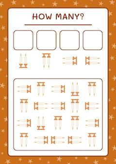Quante candele di natale, gioco per bambini. illustrazione vettoriale, foglio di lavoro stampabile