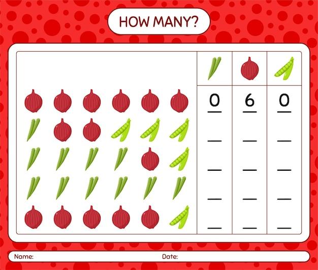 Quanti giochi di conteggio con le verdure