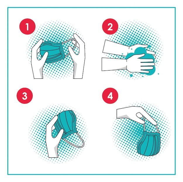 Come rimuovere l'infografica della mascherina chirurgica