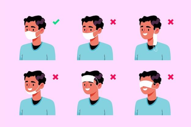 Come indossare una maschera per il viso (giusto e sbagliato)