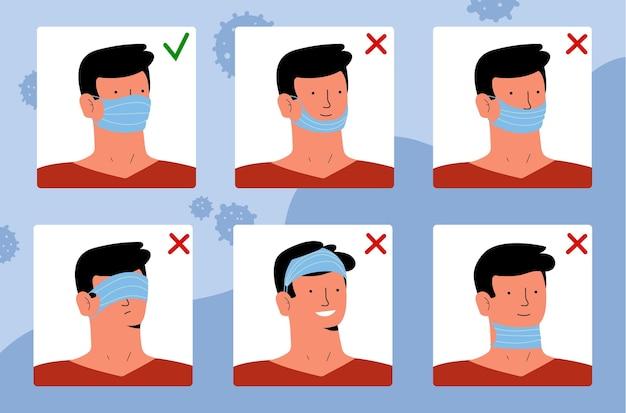 Come indossare una maschera per il viso
