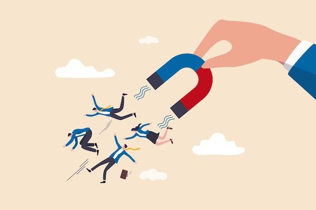 Risorse umane, illustrazione del concetto di reclutamento delle risorse umane
