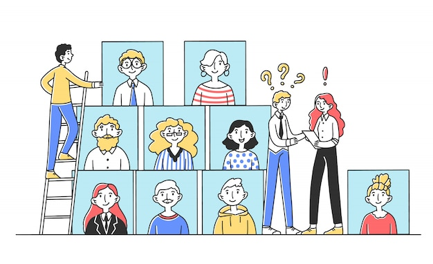 Manager delle risorse umane in cerca di persone di talento per lavoro