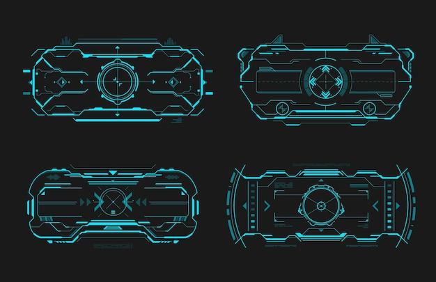Interfaccia del frame di controllo della mira hud dello schermo di destinazione