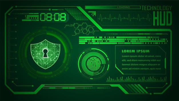 Fondo del concetto di tecnologia futura del circuito cyber hud