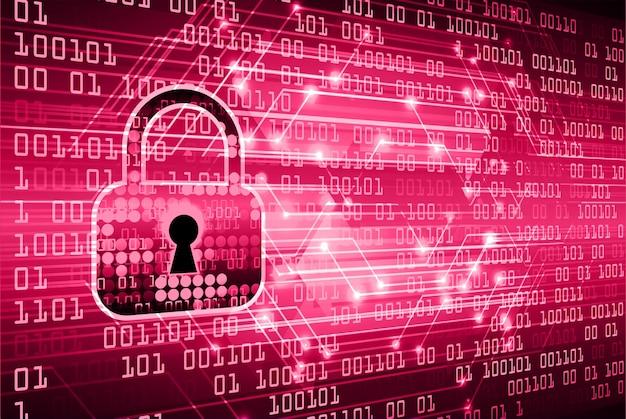 Sfondo di concetto di sicurezza informatica hud