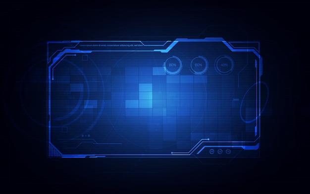 Hud, ui, elementi della schermata dell'interfaccia utente futuristica gui. schermo ad alta tecnologia per videogiochi. concetto di fantascienza.