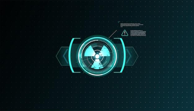 Set di elementi dello schermo dell'interfaccia utente futuristica della gui dell'interfaccia utente hud.