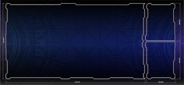 Set di elementi dello schermo dell'interfaccia utente futuristica di hud ui gui