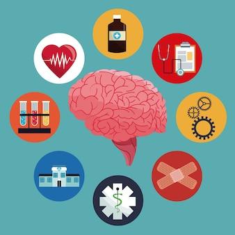 Salute della medicina del cervello umano
