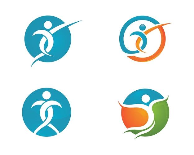 Segno del logo del carattere umano segno del logo dell'assistenza sanitaria