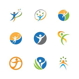 Disegno vettoriale dell'illustrazione del segno del logo del carattere umano