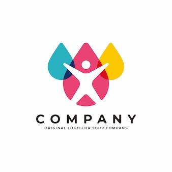 Design del logo umano design del logo del fitness medico sportivo per la salute