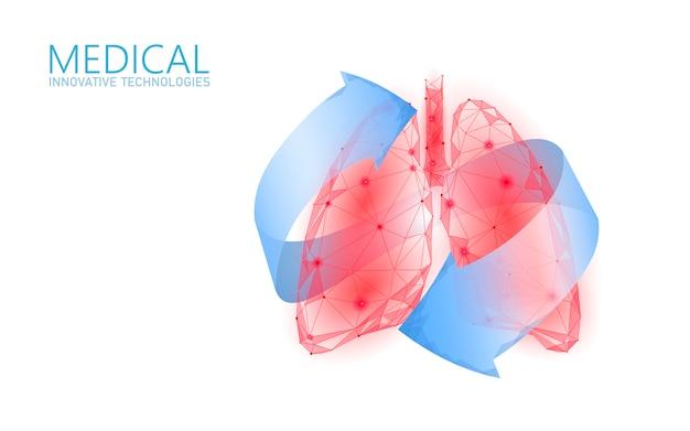 Concetto medico di recupero di sanità umana dei polmoni 3d.