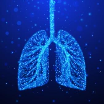 Polmoni umani. sistema respiratorio. illustrazione