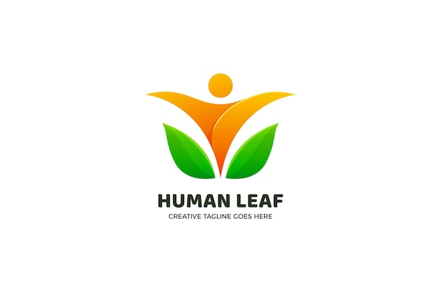Modello di logo sfumato di natura umana