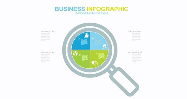 Concetto di illustrazione piatta delle risorse umane icone piatte creative impostate infografiche