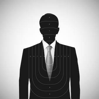 Bersaglio silhouette umana. persona sconosciuta