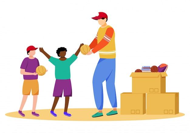 Illustrazione piatta di aiuto umanitario