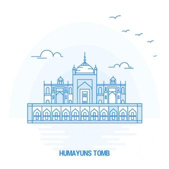 Humayuns tomb blue landmark
