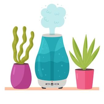 Umidificatore con piante