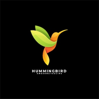 Logo di humming bird fly.