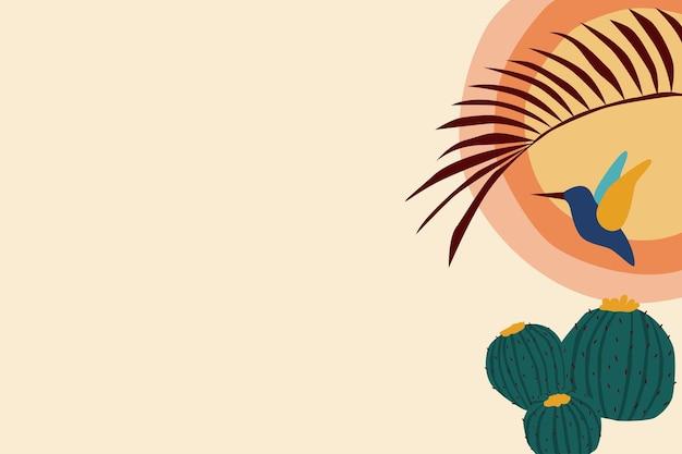 Sfondo boho colibrì