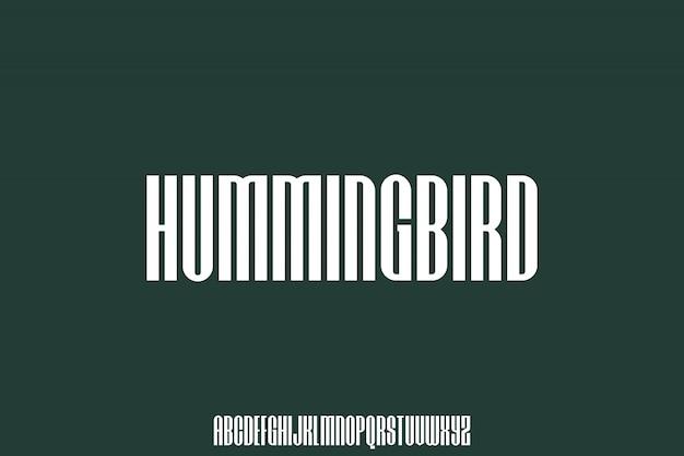 Carattere urbano condensato colibrì perfetto per il tuo poster e design di abbigliamento