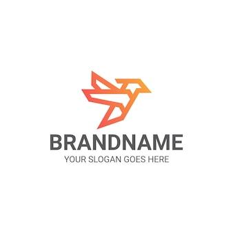 Concetto premium del logo colibrì