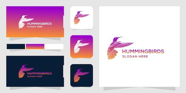 Modello con logo hummingbird