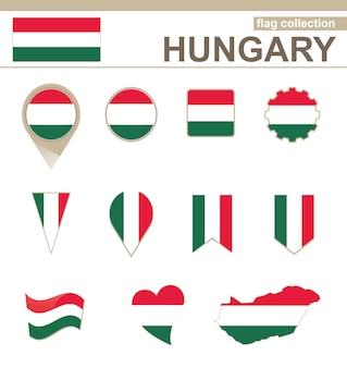 Collezione di bandiere dell'ungheria, 12 versioni