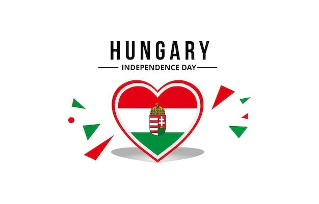 Bandiera dell'ungheria e stemma del paese