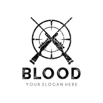 Modello di progettazione di logo di cacciatore