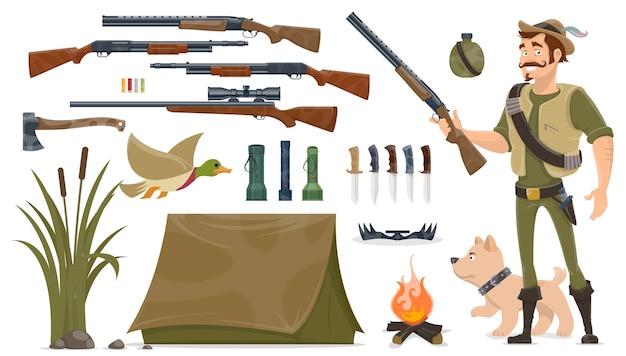 Set di elementi di caccia