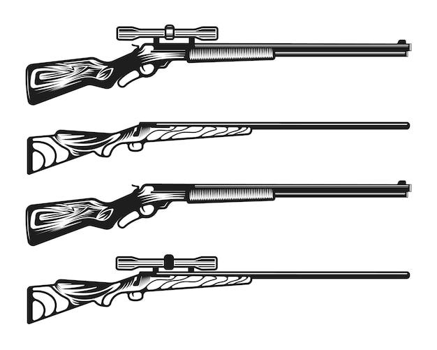 Collezione di pistole fucile da caccia