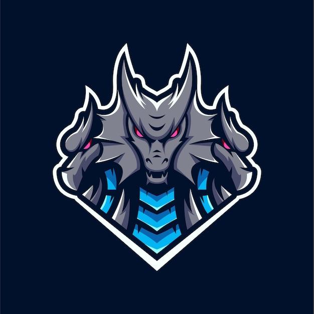 Logo della mascotte del drago hydra