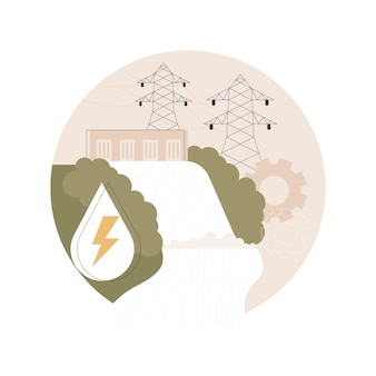 Illustrazione di energia idroelettrica