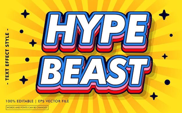 Il testo di hype beast effetti lo stile