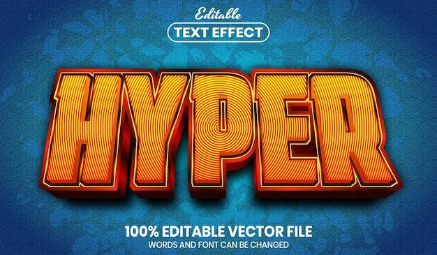 Hyper text, effetto testo modificabile in stile carattere