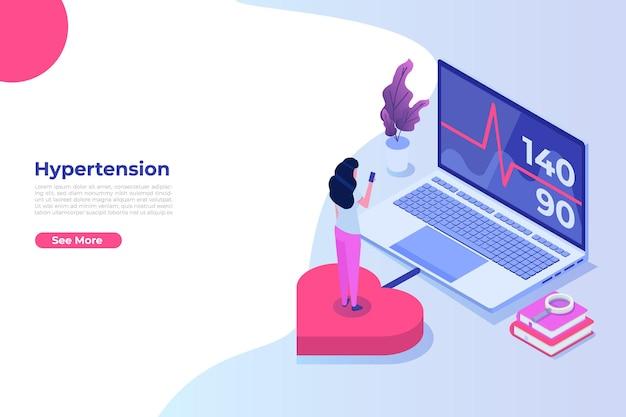 Concetto isometrico di malattia di ipertensione
