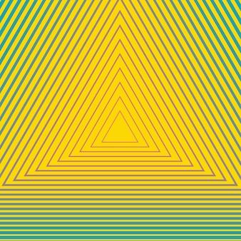 Modello geometrico ipnotico. illustrazione di stile creativo ed elegante