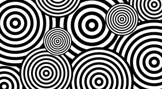 Reticolo iptonico con disegno di vvector di cerchi.