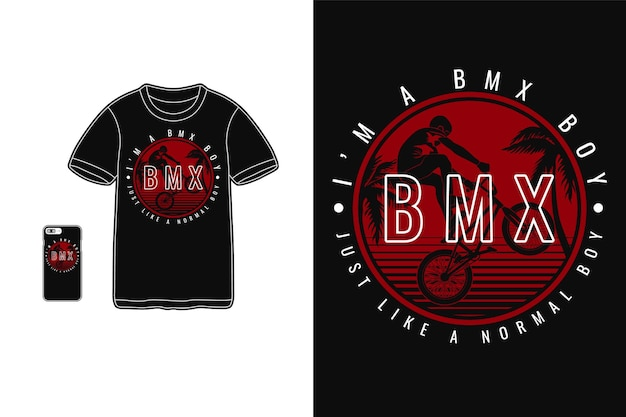 Sono un ragazzo bmx, stile silhouette design t-shirt