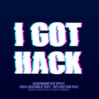 Ho hack, effetto di testo modificabile in stile glitch tik tok
