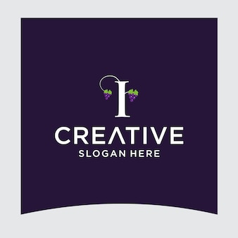I design del logo dell'uva