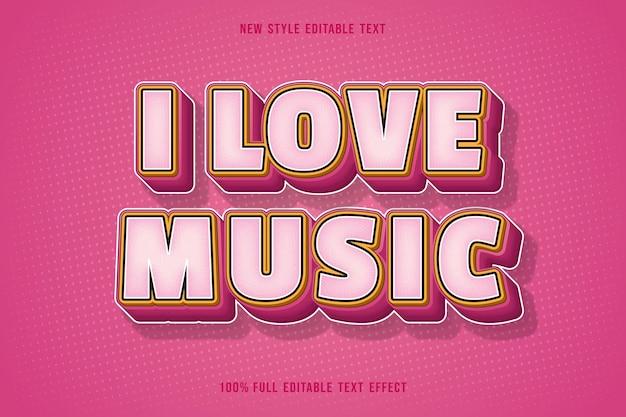 Amo la gradazione del colore dell'effetto del testo modificabile della musica