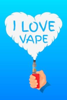 Adoro il concetto di design di vaporizzatore, logo o simbolo