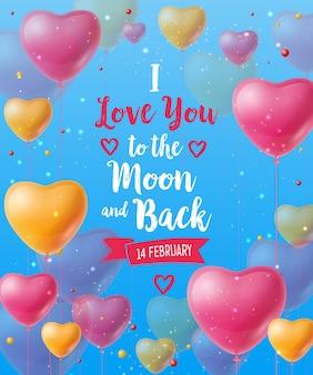 Ti amo alla luna e ritorno lettering